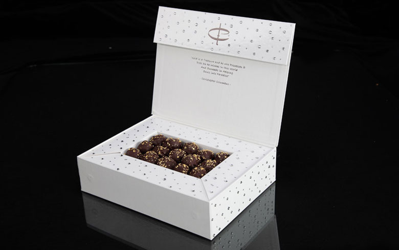 Amedei Toscano Black Truffles in Swarovski Chocolate Box