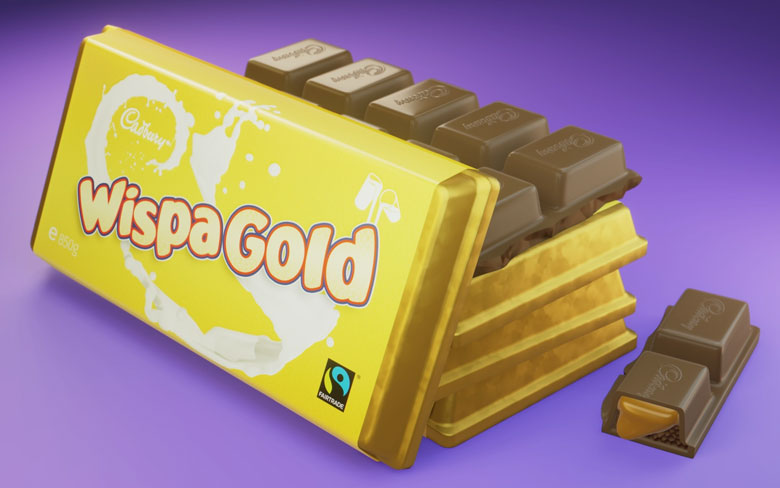 Wispa Gold Chocolate by Cadbury