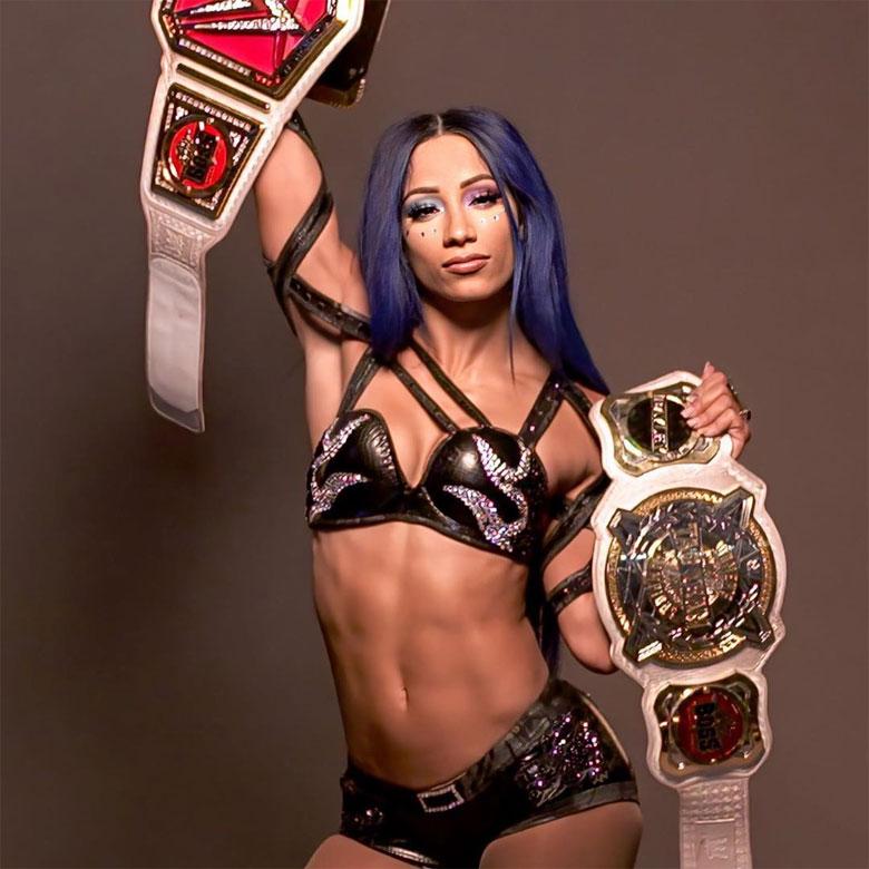 Sasha Banks won the WWE Woman's Championship